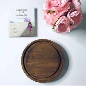 Other - Wood Round Decor or Candle Tray